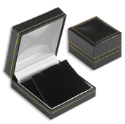Black Leatherette Jewelry Gift Boxes