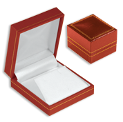Red Leatherette Jewelry Gift Boxes