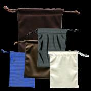 Linen Leatherette Drawstring Pouches