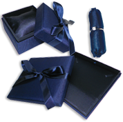 Blue Satin Gift Boxes: The Manhattan Collection