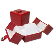 Red Double Door Leatherette Gift Boxes